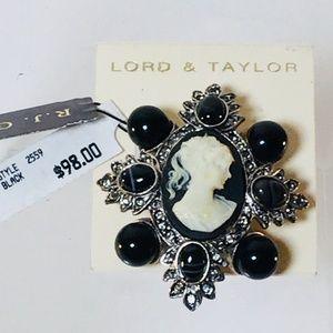 R.J. Graziano Designer Pin Cameo Brooch Pendant